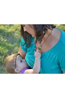 "Breastfeeding Necklace Baltic Amber ""Mother.."