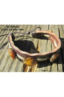 Baltic Amber and Genuine Lea..