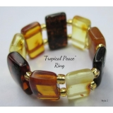 "Baltic Amber Ring ""Tropical Peace"" Sty.."