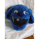 MOTORBIKE FUNNY HEEDS CRAZY CRASH HELMET COVERS MOTORCYCLE HELMET COVER BLUE DOG