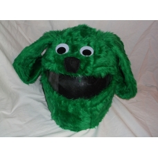 MOTORBIKE FUNNY HEEDS CRAZY CRASH HELMET COVERS MOTORCYCLE HELMET COVER GREEN DOG