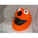 MOTORBIKE FUNNY HEEDS CRAZY CRASH HELMET COVERS MOTORCYCLE HELMET COVER ORANGE ELMO