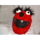 MOTORBIKE FUNNY HEEDS CRAZY CRASH HELMET COVERS MOTORCYCLE HELMET COVER RED LASH ELMO