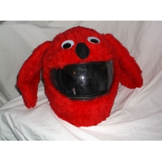 MOTORBIKE FUNNY HEEDS CRAZY CRASH HELMET COVERS MOTORCYCLE HELMET COVER RED DOG