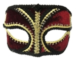 Black, Red & Gold Glasses Style Eye Mask