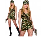 Bootcamp Babe Costume - Ladies Army Outfit
