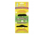 Assorted Fake Moustaches - 6 Pack