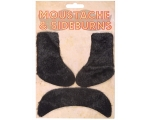 Moustache & Sideburns Set - Black