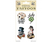 Good Luck Theme Temporary Tattoos