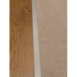 Satin Effect Carpet Z Plate Door Threshold 10mm