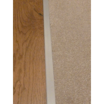 Satin Effect Carpet Z Plate Door Threshold 13mm