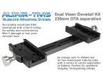 230mm Vixen Type Dual Mounting Bar OTA Separatio..