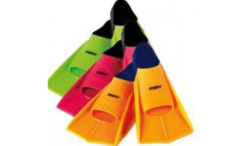 Maru Short Fins, green, orange or pink