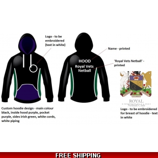 RVC Custom made Hoodie for Netball