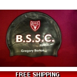 Bishops's Stortford S. C. swimming hat..