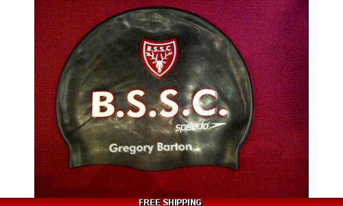 Bishops's Stortford S. C. swimming hat NAMED