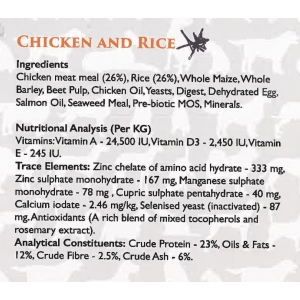 Gluten Free - Chicken and Rice 12kg -  including delivery in the UK
