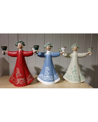 "Candle holder ""Blomsterkransjente"""