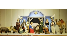 Wood-Carved Nativity Scene