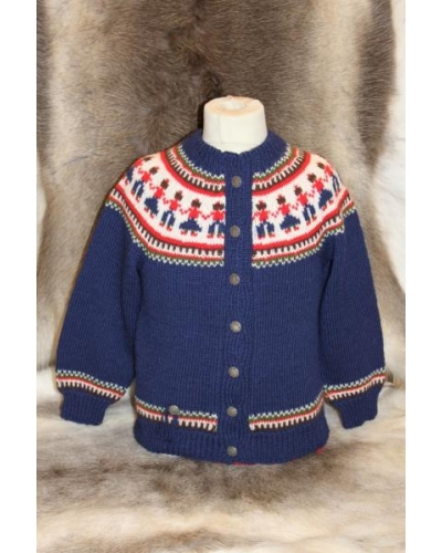"Hand-knitted Children Cardigan ""Kjerring"""