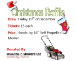 Christmas Raffle Chance to Win a Honda HRG 416 SK
