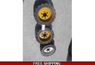 3 clark FORKLIFT rim with tire 6 lugs