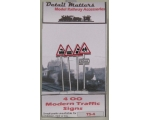 OO gauge Modern Road Traffic Signs 4 Pack school..
