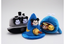 Japan Disney D23 Expo Tsum Tsum Willie Fantasia Mickey Pinnochio in Whale