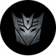 Decepticon logo spare tire cover