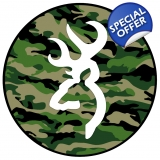white deer head on camo spare tire cover