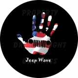 Jeep Wave American Flag Spare Tire Cover