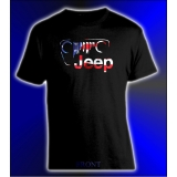 Jeep Grille American Flag Tee Shirt