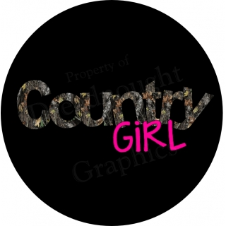 Country Girl Real Tree Camo Spare Tire Cover