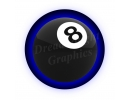 Eight Ball Spare Tire Cover with back..