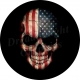 American flag skull spare tire cover