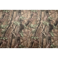 Camouflage woodland fabric in strong waterproof PVC material.