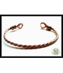 Copper Twisted Bangle -..