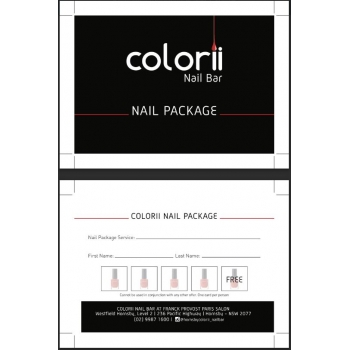Colorii Nail Package card by..