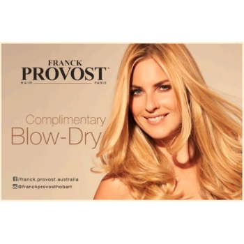 Complementary Blow-Dry card ..