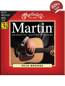 Martin M140 3 Pack Light Acoustic Guit..