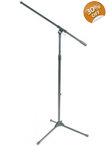 Microphone Stand Tripod with Boom Black
