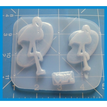 MFL Exclusive Retro Vintage Single  Flamingo Shapes handmade Plastic Mold