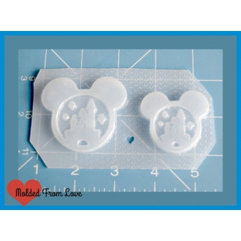 Set of 2 Mouse Head Snow Glo..