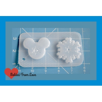 Set of 2 Mouse Snowflakes Sh..