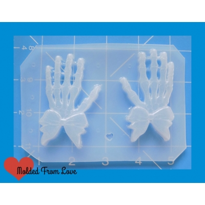 MFL Skeleton Hands with Bow Handmade Plastic Mold