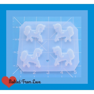 Oh So Kawaii Mini Unicorns pallet of 4 Handmade Plastic Mold