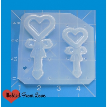 2 kawaii open heart with bow..