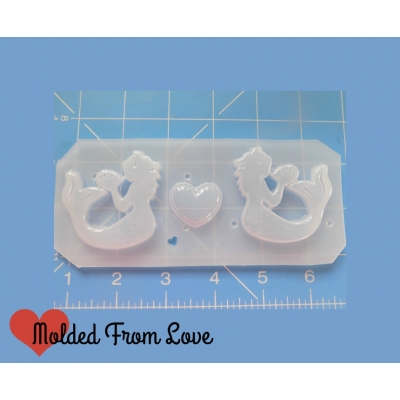 New Style Mermaids with Curvy Tail Handmade Plastic Mold