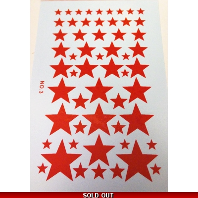 1/16 Scale Soveit Army RED Star Water Slide Decals