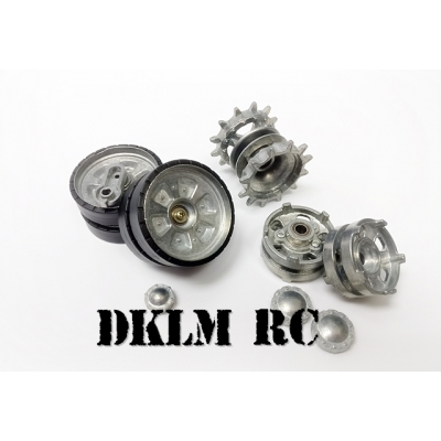 [DK] Metal Sprocket & Idler wheel set for 1/16 T-90 tank